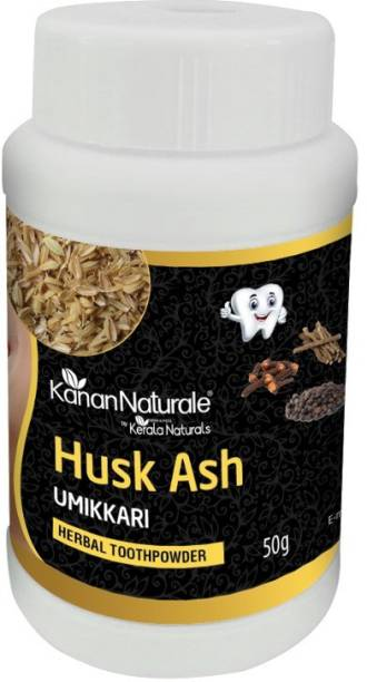 Kerala Naturals Activated Charcoal From Rice Husk -Herbal Tooth Powder-50 gm