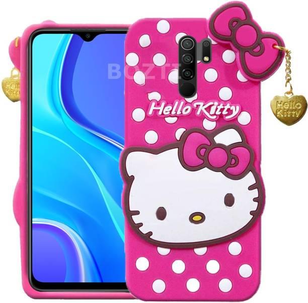 BOZTI Back Cover for Mi Redmi 9 Prime, POCO M2, Cute Hello Kitty Case