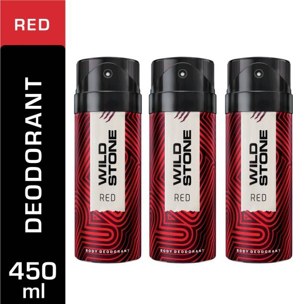 Wild Stone 3 Red Deodorant Spray  -  For Men