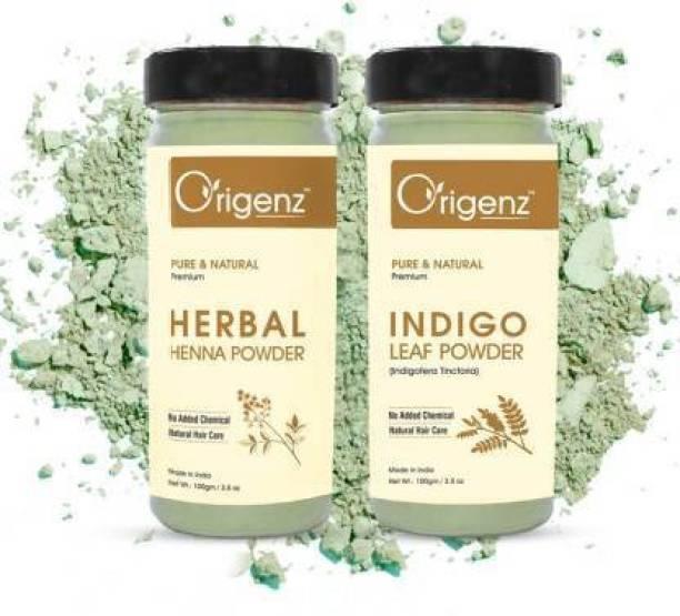 Origenz Indigo Powder and Herbal Henna Powder