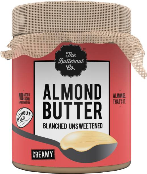 The Butternut Co. Blanched (Without Skin) Unsweetened Almond Butter, Creamy Jar 200 g