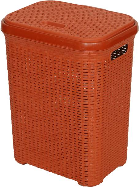 Esquire 50 L Maroon, Peach Laundry Basket