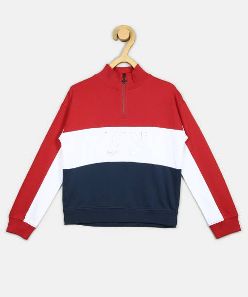 Pepe Jeans Full Sleeve Color Block Girls Sweatshirt