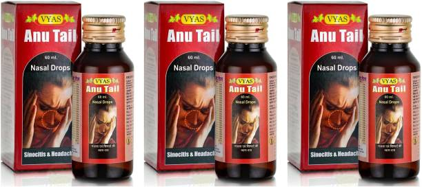 vyas Anu Tail for Treating Diseases Related to Hair, Eyes and Nose (Pack of 3)