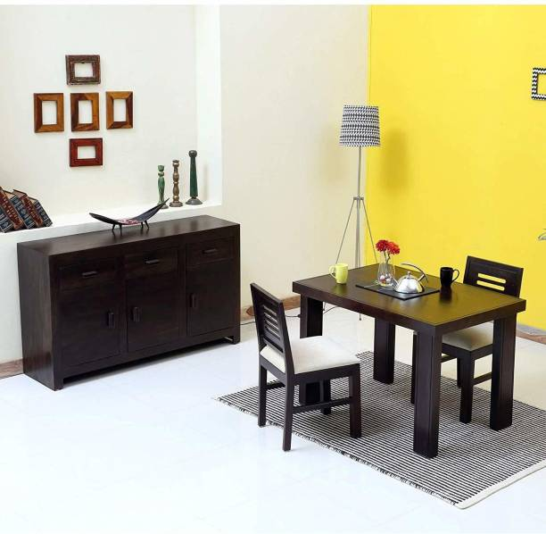 Woodware Sheesham Wood 2 Seater Dining Table Set with Chairs for Living Room (Warm Chestnut) Solid Wood 2 Seater Dining Set