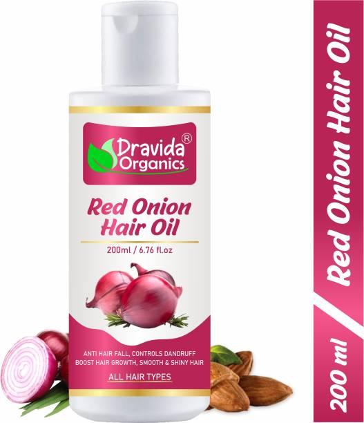 Dravida Organics Red Onion Hair Oil for Hair Regrowth & Hair Fall Control Hair Oil