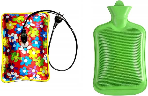Antil's Electric + Non Electric Hot Water Bag/Bottle/ Heat Pad Combo for Pain Relief Therapy (Multicolor) Electric 2 L Hot Water Bag