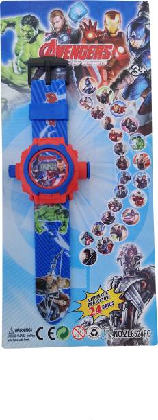 Jainixi sales Avengers 24 Images Projector Digital Toy Watch for Kids (Angry Birds)