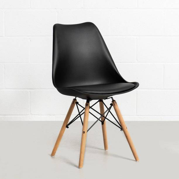 Deal Dhamaal Eames Replica Nordan Iconic Chair in Black Colour Plastic Living Room Chair