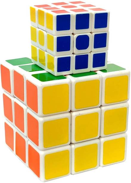 lookat Cube 3x3×3 High Speed Magic Brainstorming Puzzle Cube Game & Toy - Pack of 2