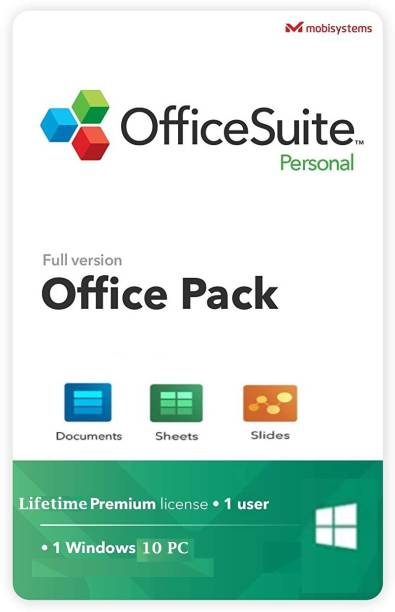 MobiSystems OfficeSuite Personal Compatible with Microsoft® Office Word Excel & PowerPoint® | Lifetime | for Windows 10 PC |1 User