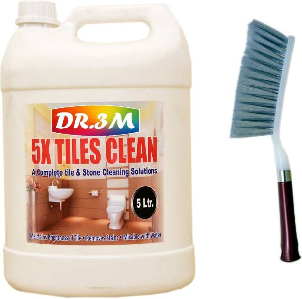dr.3m DR3M AMY248-TILES CLEANER 5000ml.+Cleaning Brush with Hard & Long Bristles