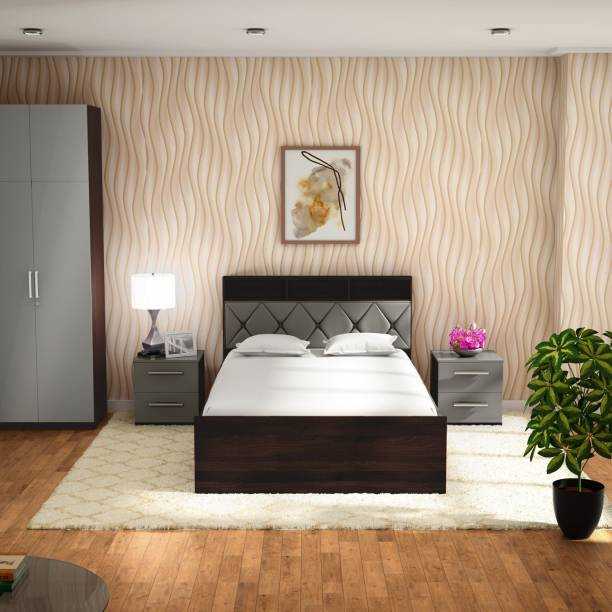 Godrej Interio Lattice Engineered Wood Queen Drawer Bed
