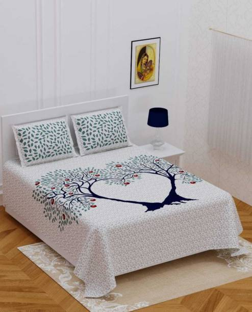 ABHISHEK FASHION 144 TC Cotton Double Jaipuri Prints Bedsheet