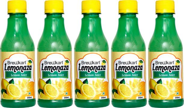 Brewkart Lemonaza Lemon Juice Concentrate Pack of 5