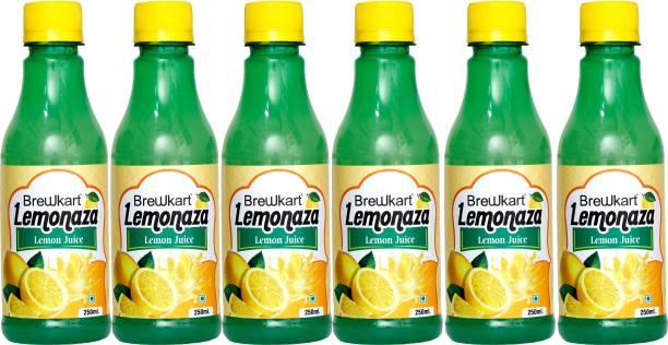 Brewkart Lemonaza Lemon Juice Concentrate Pack of 6