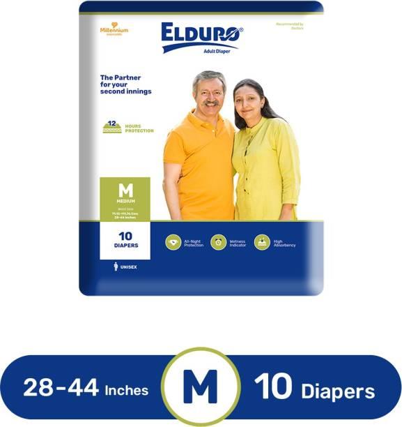 ELDURO Unisex Adult Diaper Pants, Waist Size 28-44 Inches- Pack of 1 Adult Diapers - M