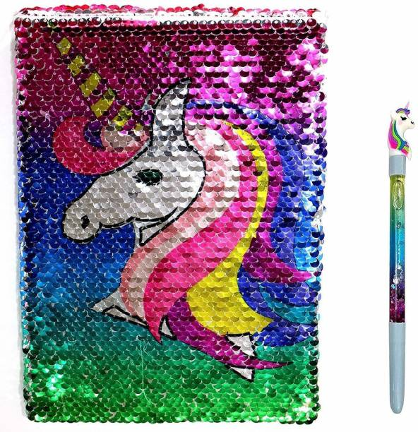 EMPICA UNICORN SEQUIN NOTEBOOK A4 Diary N0 150 Pages