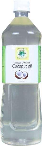 iFarmerscart Coconut Oil UnFiltered 1L Coconut Oil Plastic Bottle