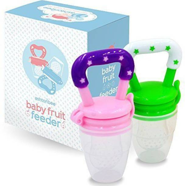 Stylo Combo Pack of 2 Fruit Feeder For Babies , 100% BPA-Free Teether Set for Boys & Girls Feeder  - Silicone