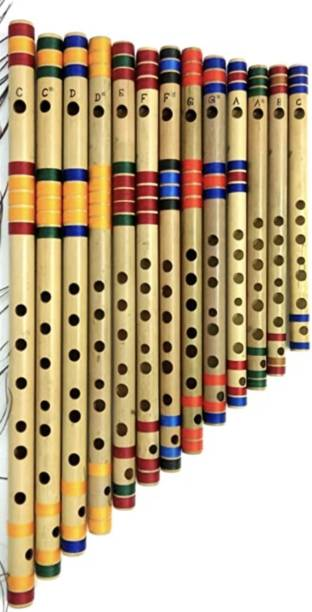 LINK O LINE Set of 13 Professional flutes all scale with all size and colors Bamboo Flute