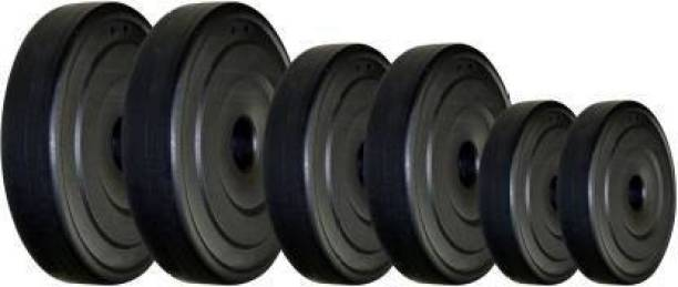 Growth Up 20kg Dumbbell Plates, Weight Plate Set, Gym Plates Black Weight Plate