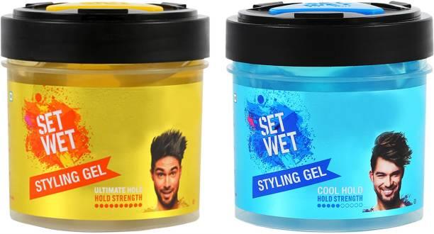 SET WET COOL 250 ML and Ultimate 250ml Hair Gel 500 ml Hair Gel