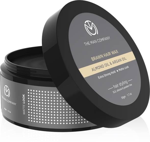 THE MAN COMPANY Brawn Hair Wax - Almond & Argan Oil 50g Hair Wax