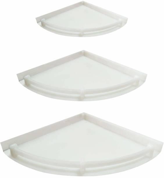 TNT Bathroom Corner Shelf - Unbreakable, Wall Shelf/Kitchen Storage Corner Shelves Plastic Wall Shelf