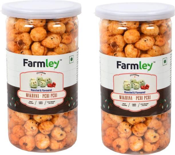 Farmley Roasted & Flavored Makhana - Peri Peri 180g Pack for 2 (90g Each)