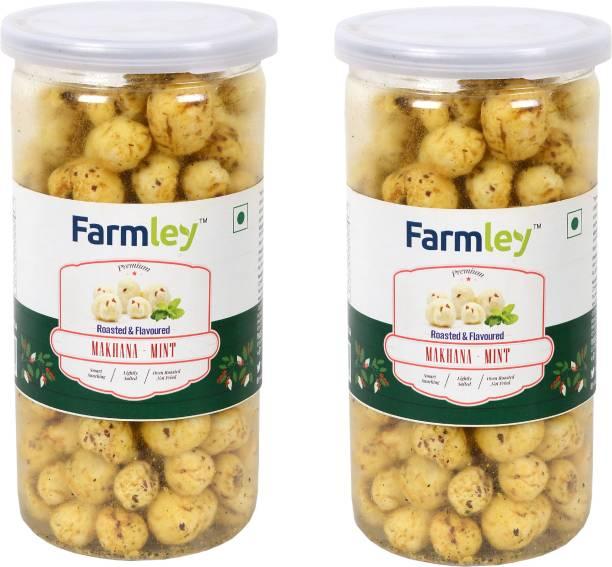 Farmley Roasted & Flavored Makhana - Mint 180g Pack for 2 (90g Each)