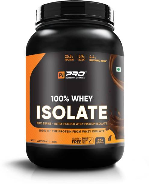 """pro nutrition & fitness WHEY ISOLATE SWISS CHOCOLATE FLAVOUR WITH Digezyme""""s PRO-SERIES(25.5GM Protein) Whey Protein"""