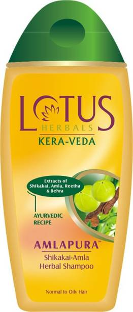 LOTUS Herbals Kera-Veda Amlapura Herbal Shampoo 200 ml Pack of 2