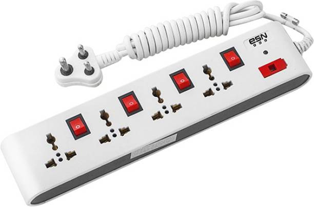ESN 999 Multi Purpose Wonder 4+4 Power Strip,Universal Sockets With 2m Wire lenghth,3Pin Plug,Switch & Indicator(6AMP,240V) 4  Socket Extension Boards