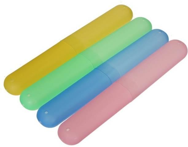 JLT Tube Cap Cover ( Set of 4 ) Plastic Toothbrush Holder