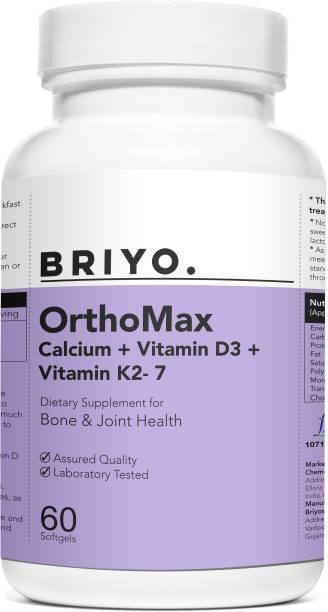 BRIYOSIS Orthomax - Vitamin D, Calcium, Vitamin K2 Dietary Supplement for bone health