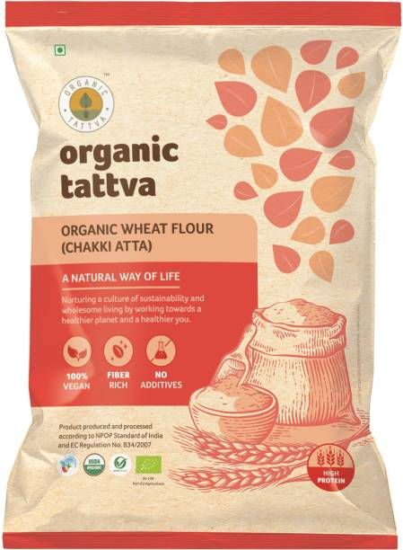 Organic Tattva Whole Wheat Flour (Chakki Atta)