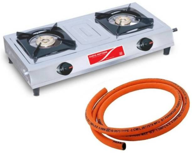 Surya Hotterr Stainless Steel Manual Gas Stove