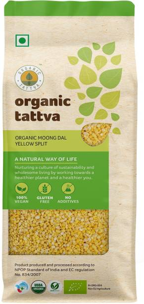 Organic Tattva Yellow Moong Dal (Split)