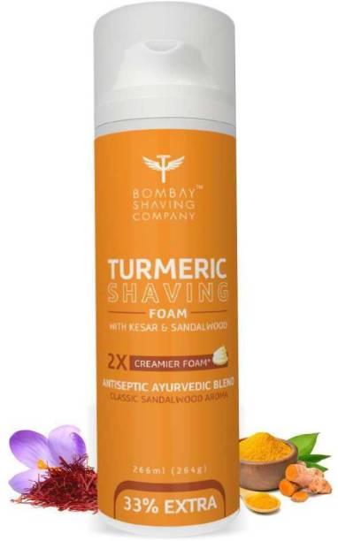 BOMBAY SHAVING COMPANY Turmeric Shaving Foam, 226 ml (33% Extra) with Turmeric & Sandalwood