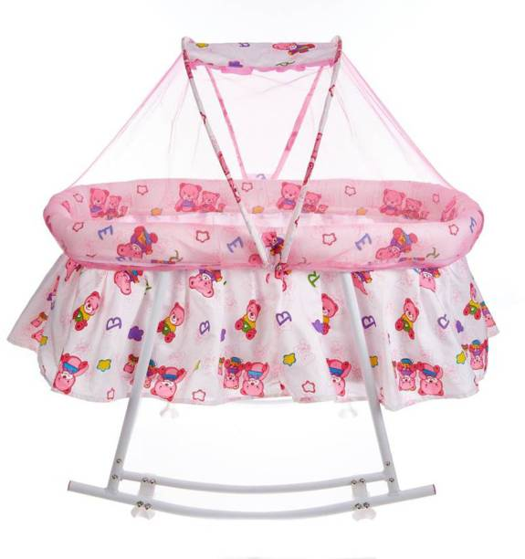 Ylber Pink New Born Baby Rocker with mosquito net Rocker