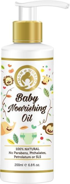 Mom & World Baby Nourishing Oil with Almond, Grapeseed, Wheatgerm, Olive and Coconut Oils