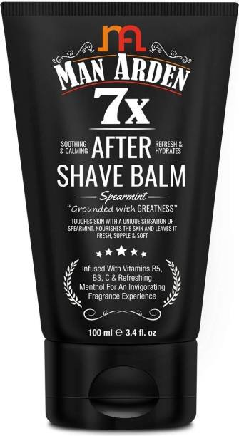 Man Arden 7X After Shave Balm Spearmint 100ml with Menthol, Vitamin C and Hyaluronic Acid - Soothing, Calming and Refreshes