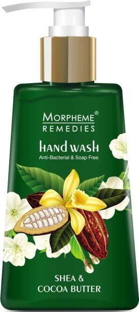 Morpheme Remedies Hand Wash Shea & Cocoa Butter, Cleansing, 250ml - Soap Free Hand wash Hand Wash Pump Dispenser