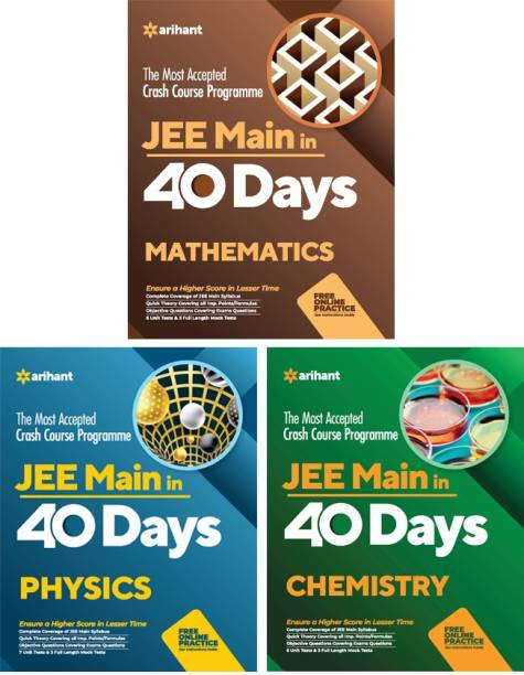 40 Days Crash Course for JEE Physics , Chemistry & Biology 2021 (Set of 3 Books)