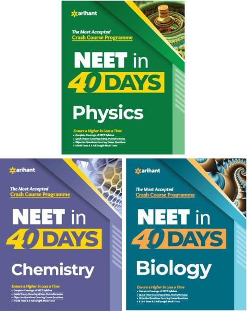 40 Days Crash Course for NEET Physics , Chemistry & Biology 2021 (Set of 3 Books)