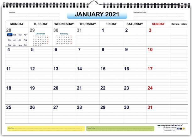 mapyyourMonth Calendar/Planner/Scheduler 2021 Wall Calendar