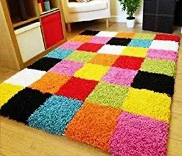RM Handloom Multicolor Polyester Carpet