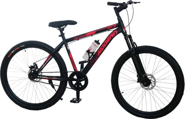 MODERN LX 27.5T Mountain Steel Bike/Cycle Front Suspension (Matte Black-Red) 27.5 T Mountain Cycle