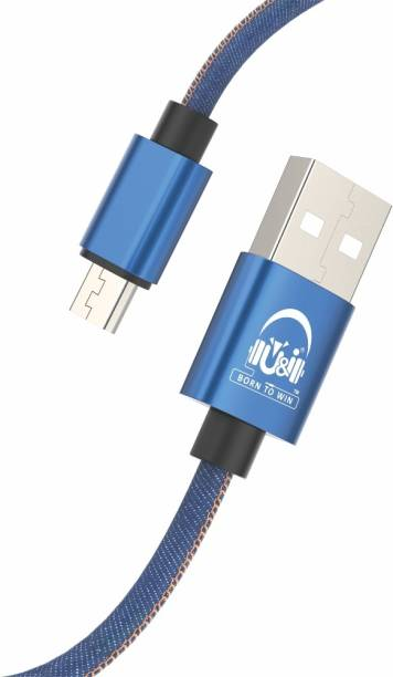 U&I Jeans Series Denim Micro USB Data Cable UiDC-2592 2.4 A 1.5 m Micro USB Cable
